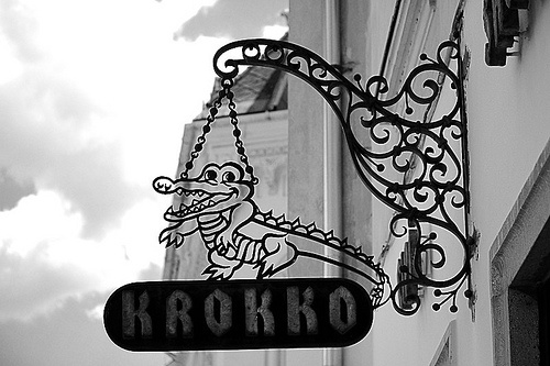 Krokko cipőbolt shoe shop in Gyor, Hungary