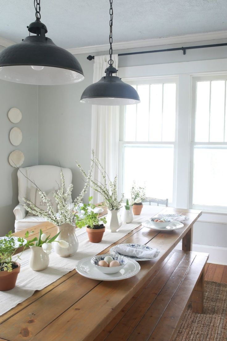 Modern country dining room - Find This Pin And More On Country White Farmhouse Easter Dining Room