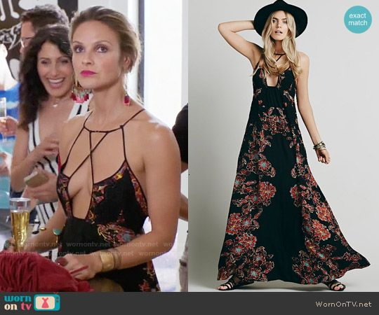 Phoebe's black strappy maxi dress on Girlfriends Guide to Divorce.  Outfit Details: http://wornontv.net/54819/ #GG2D