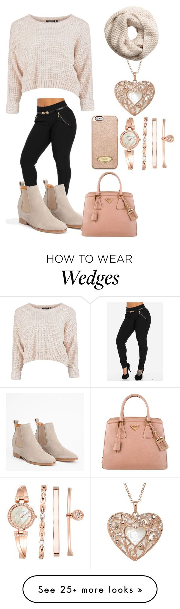 """""""Happy Thanksgiving"""" by therealangel on Polyvore featuring Anne Klein, H&M, Prada and MICHAEL Michael Kors"""