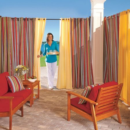 Best 25 Outdoor Curtain Rods Ideas On Pinterest Drop Cloth Curtains Outdoor Patio Curtains