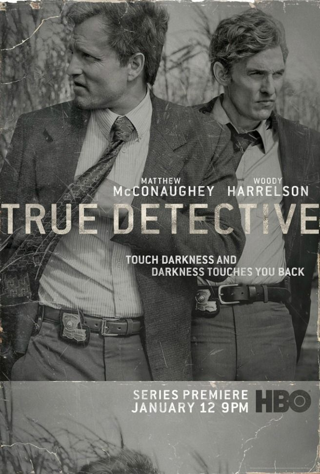True Detective, starring Matthew McConaughey and Woody Harrelson Brilliant the both of them! Damn bloody shame to find out that the first season is all these two are in! Haven't bothered with the others.. AJ