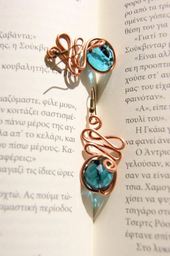 Mycenaeans wire earrings by RenatasArt on Etsy, €12.00