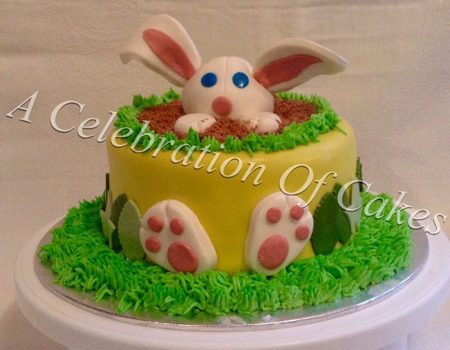 Easter Bunny cake. Inspired by another artist.