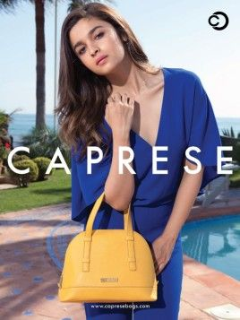 Hot Alia Bhatt Photoshoot for Caprese Bags Spring-Summer Collection