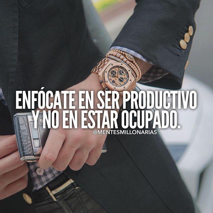 Enfócate en ser productivo y no en estar ocupado. Productividad y organización del tiempo.