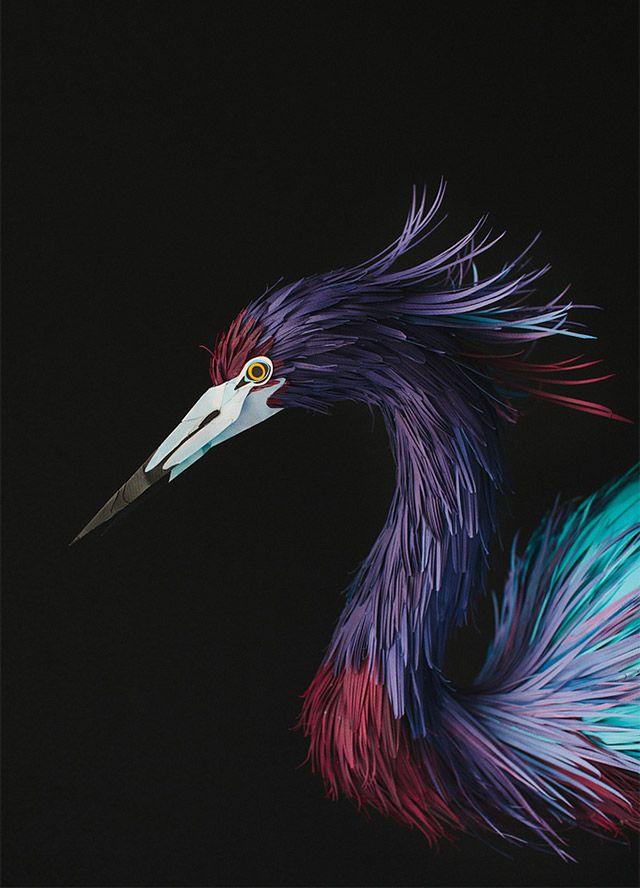 New Paper Birds from Diana Beltran Herrera  http://www.thisiscolossal.com/2013/07/new-paper-birds-from-diana-beltran-herrera