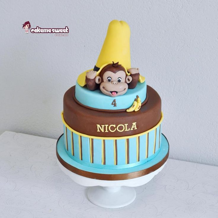 Curious George cake - Cake by Naike Lanza