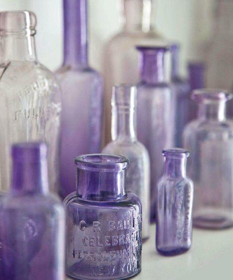 beautiful purple glass bottles oo la lavender #BBWinsiders ...