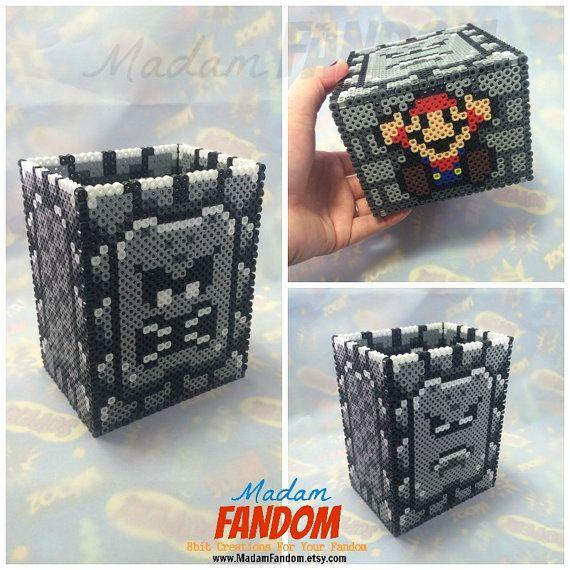 Video Game Box, Super Mario Bros, Thwomp, Center Piece, Valentine's Day Gift For Him, Game Room Decor, Video Game Decor