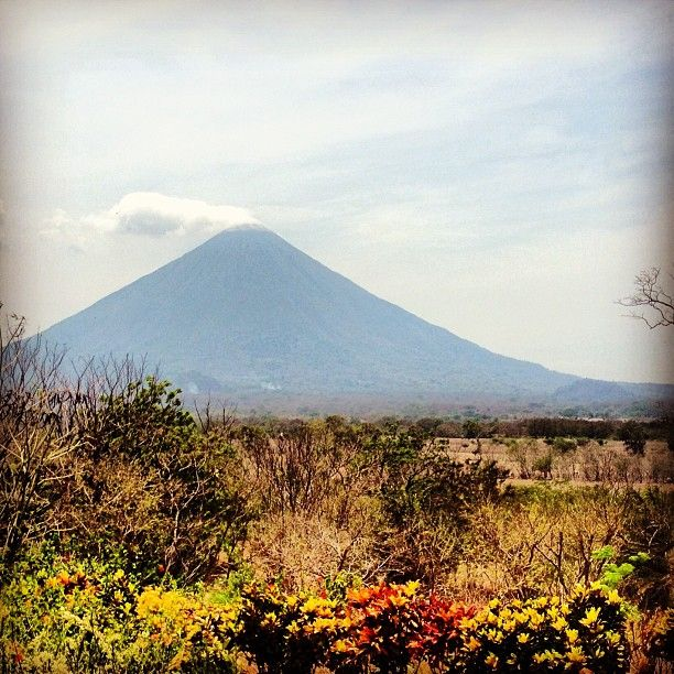 """Daytime view of Volcán Concepción on Isla Ometepe from El Encanto hostel"""