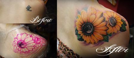 sunFlower Shoulder Tattoos for Women | tattoo inspiration worlds best tattoos coverup