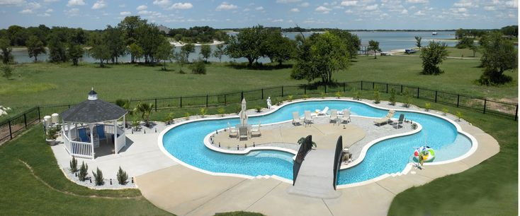 Residential Lazy River Pool Light Commercial Luxury