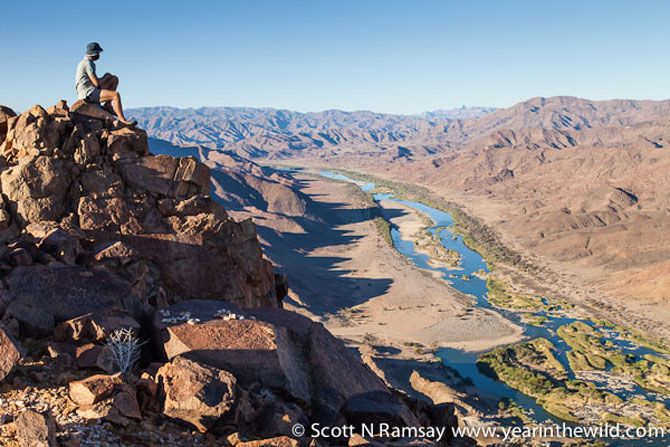 Richtersveld National Park - Looking northwest towards Namibia across the Gariep River.