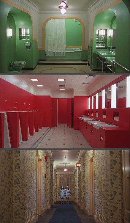 I love the framing which is another reason The Shining is one of my favourite films ... This is how Wes Anderson learn ...