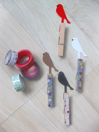 pinzas decoradasGestito De, Decorated With, De Ideas, Con Washi, Wood Clips, Pinzas Decoradas, Wood Clothespins, Washi Tape