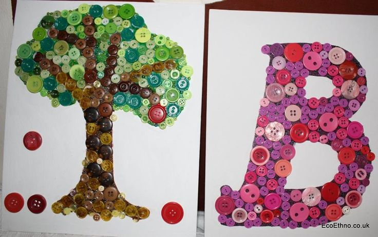 Buttons mosaic #workshopwithchildren #buttonletters