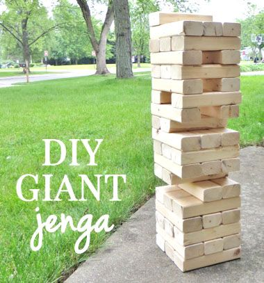 DIY Giant wooden garden Jenga game - fun party game // Óriás kerti Jenga fából egyszerűen - társasjáték fából (barkácsolás) // Mindy - craft tutorial collection