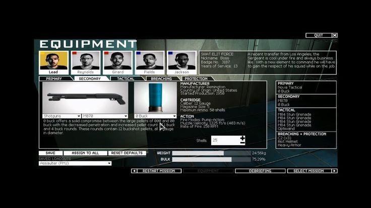 SWAT 4 Elite Force V5 Mod Test new bucks and slug of shotguns