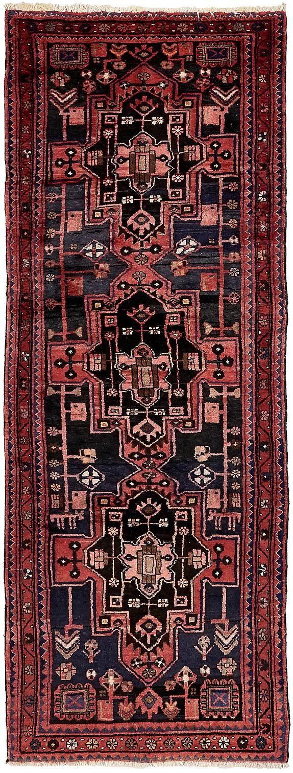Navy greek key rug transitional entrance foyer libby langdon - Navy Blue 3 5 X 9 6 Zanjan Persian Runner Rug Persian Rugs