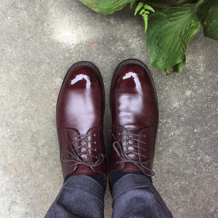 H.ARAI ハイシャインの境界線がくっきりしすぎ 帰ったらぼやかしてみます #harai #荒井弘史 #荒井弘史靴研究所 #荒井弘史靴誂え室 #shoes #紳士靴 #革靴
