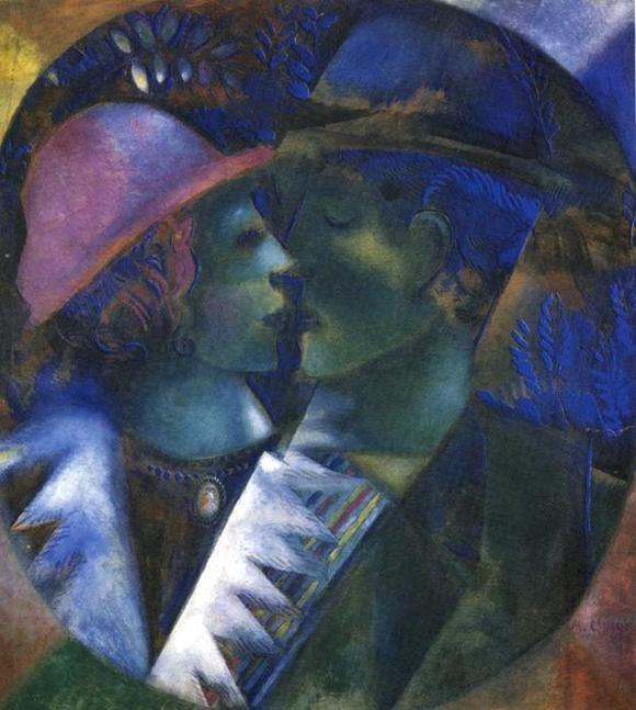 Марк Шагал :: Зеленые любовники (1910 год)