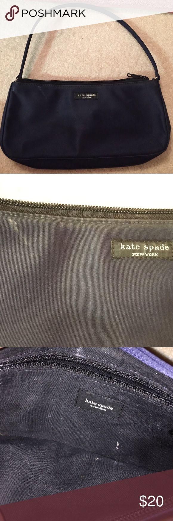 CLOSEOUT Kate Spade Nylon mini bag Small nylon handbag, has some marks on it from makeup, still looks good,  navy color kate spade Bags