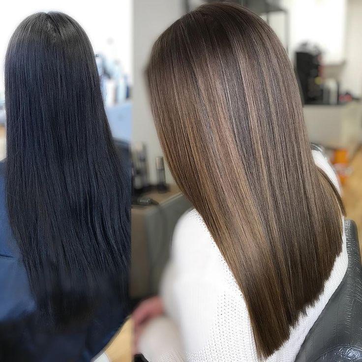 Färben hellbraun dunkelbraune haare Dunkelbraunes haar