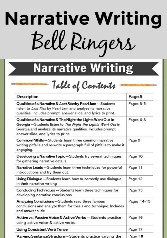 narrative writing bell ringers and minilessons for the entire  abbdcdeabjpg