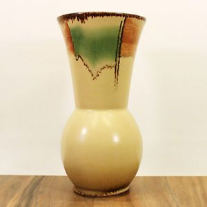 ELSTERWERDA SACHSEN KERAMIKVASE 22CM BAUHAUS FORM 694/9 MALDEKOR UM 1930/1940 in Antiquitäten & Kunst, Porzellan & Keramik, Keramik | eBay