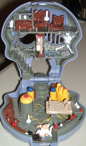Eventually, the Polly Pocket dolls would end up getting held captive in the Mighty Max Scull. It was a childhood inevitability.