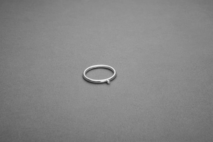 Oriana ring handmade by Piroskanna. This ring is simple but elegant with it's minimalist style
