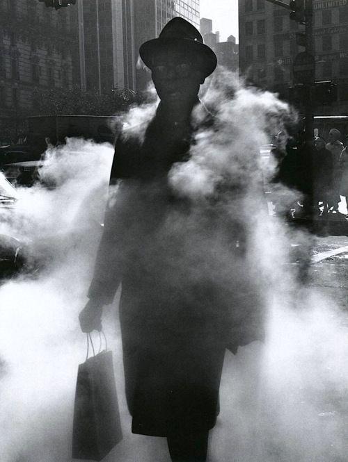 Arthur Tress - Man in Steam, New York, 1968