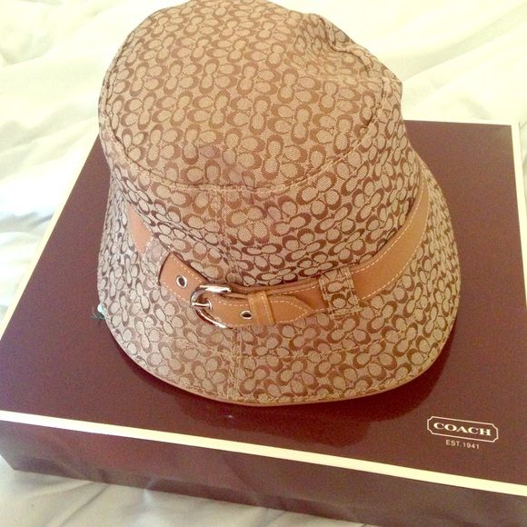Authentic Classic Coach hat Nwot, comes with original box but no dust bag. Coach Accessories Hats