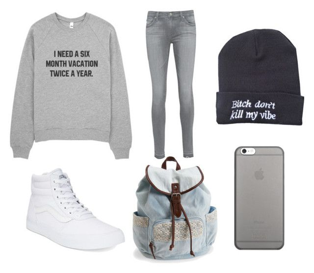 """""""Untitled #84"""" by rbanahi on Polyvore featuring AG Adriano Goldschmied, Vans, Aéropostale and Native Union"""