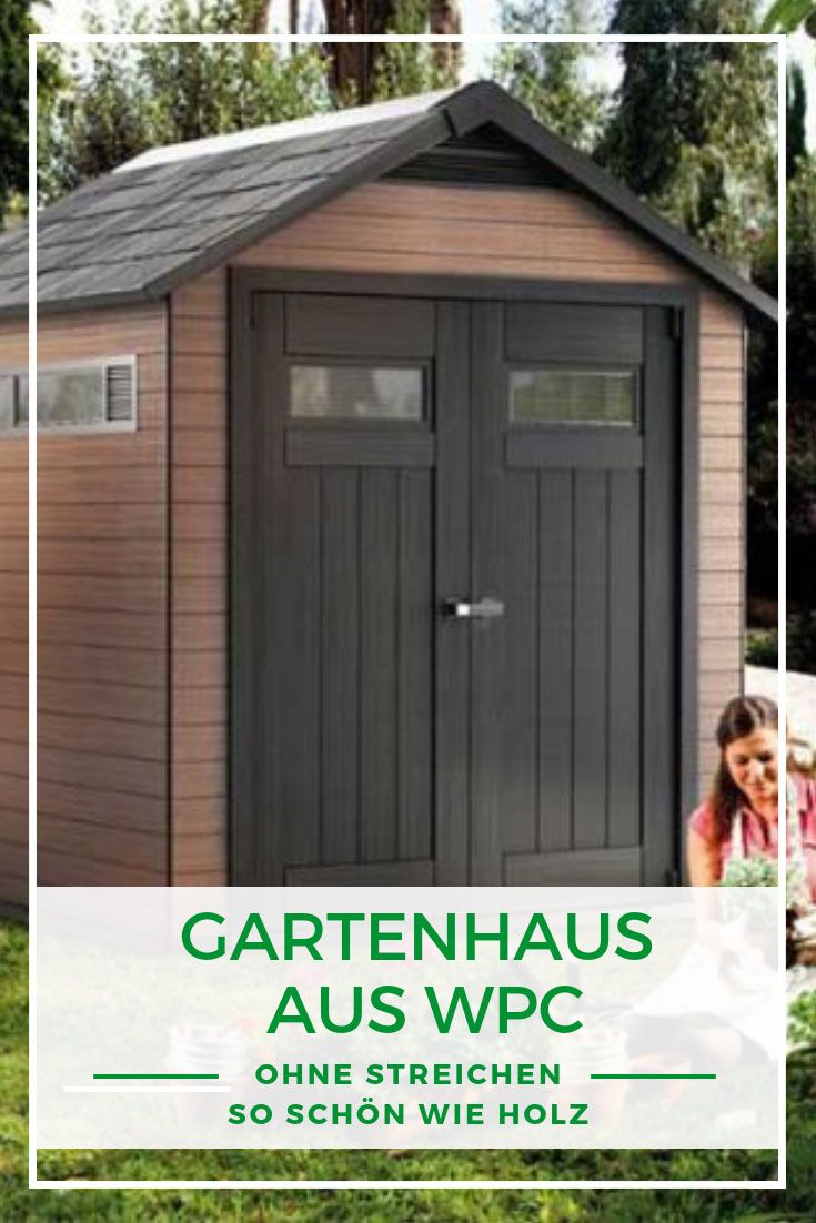 Ein Gartenhaus aus WPC ohne Streichen schön wie Holz