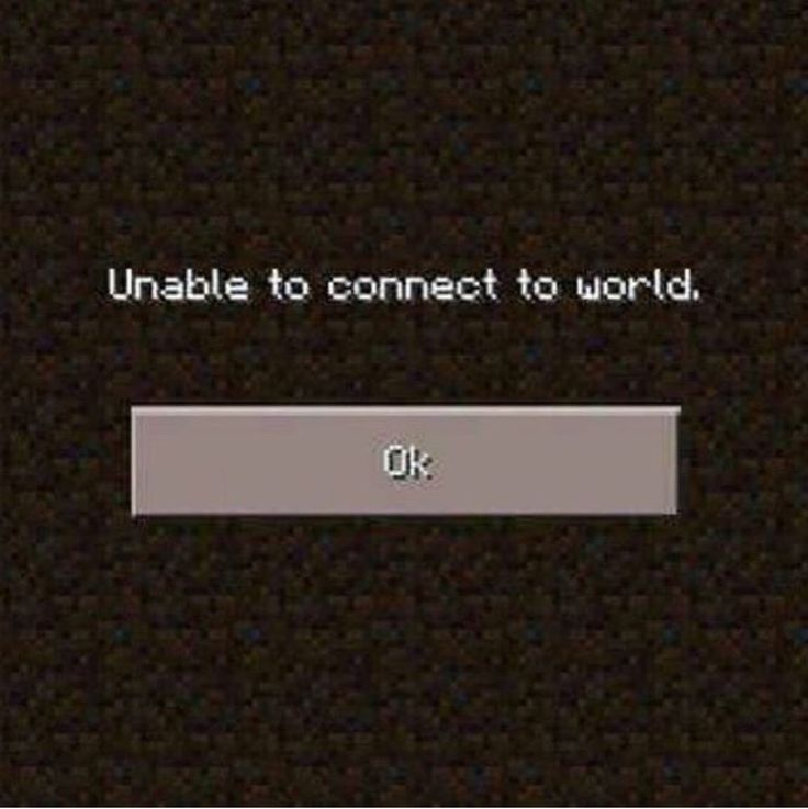 Unable to connect to world. | #INTJ