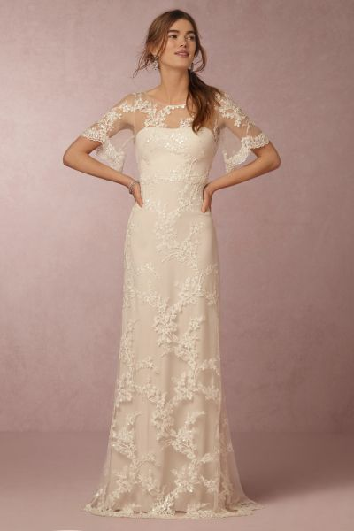 Marchesa Notte Bride for BHLDN: http://www.stylemepretty.com/2016/01/08/save-the-date-marchesa-notte-bride-for-bhldn/