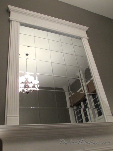 A Homeowner Wanted To Fill The U201clarge Empty Spaceu201d Above Her Fireplace. How  She Does It? Gorgeous! Mirror TilesBeveled ...