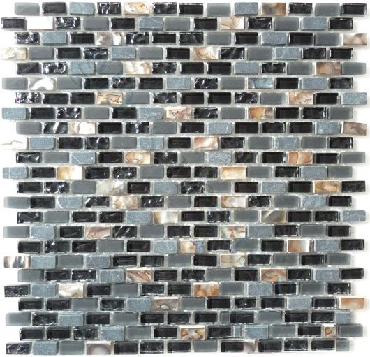 Black Unpolished Brick Kitchen Tiles