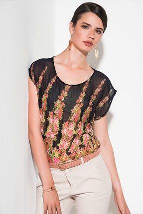 Renkli Ofis · Kadın Tekstil - Siyah Bluz 1008828 sadece 14,99TL ile Trendyol da