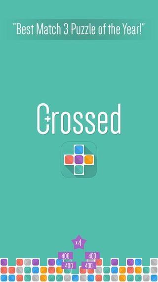 Crossed for iOS, a strangely addictive twist on the popular matching games you know and love - but things have come a long way since Te*ris!