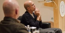 Jeffrey Katzenberg, CEO of Dreamworks, is interviewed by USA Today's Mike Snider at Syracuse University. | http://www.thenewshouse.com/story/jeffrey-katzenberg-provides-thoughts-business-life-philosophies-su-forum#