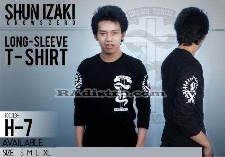 Sedia+Jual T-shirt Izaki Long Sleeve KODE: H-7, -->> Online   --->>, Murah, Keren, Kece, Berkualitas Loh gan :D  --->> Minat?? HUB CS : 087839697949