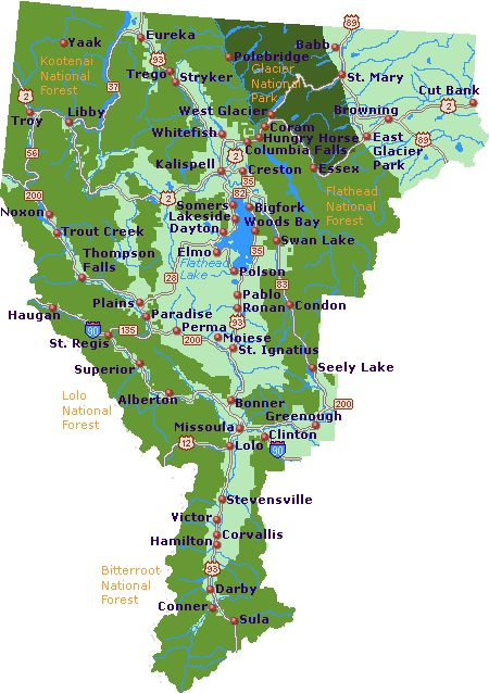 Northwest Montana Map - Go Northwest! A Travel Guide | Montana in ...