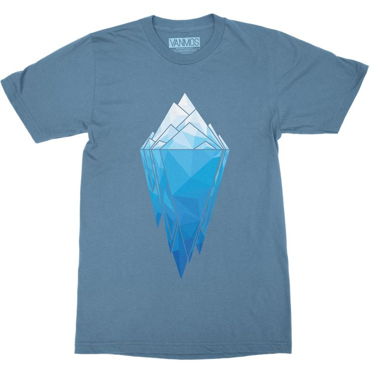 ANTARCTICA. Short sleeve men (unisex) t-shirt made of 100% combed and ring-spun cotton.  Shoulder-to-shoulder taping. Unisex sizing, normal fit. Featured Color Steel blue. Eco-friendly water-based inks