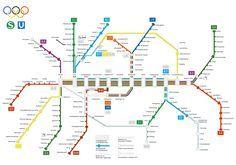 Das S- und U-Bahn Netz zu den XX.Olympischen Sommerspielen, 1972 in München. München war das erste Einsatzgebiet des 420er (Repro: Dirk Mattner)