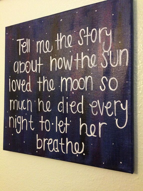 Galaxy Themed Hand Painted Quote Canvas by TheHappyPrepster