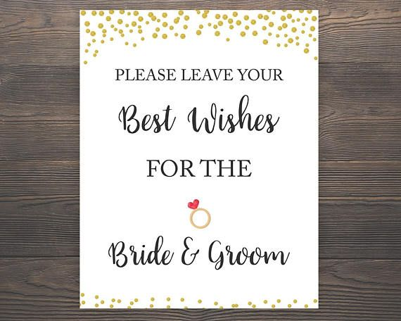 best wishes for the bride and groom bridal shower signs best