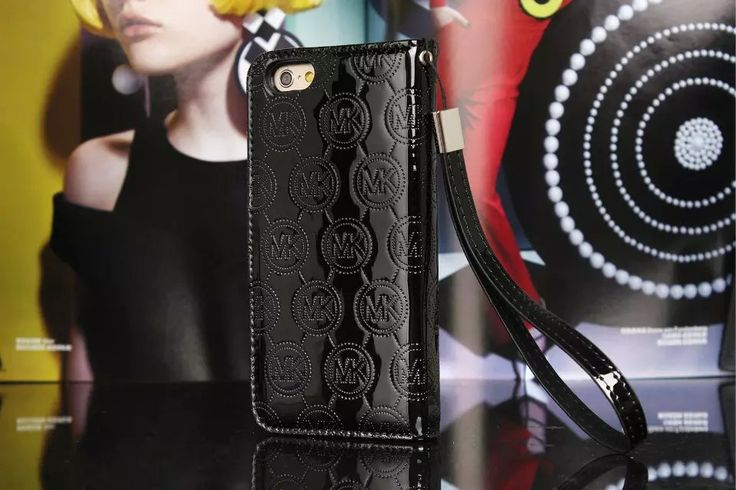 Michael Kors iPhone 7 Case Wallet MK Bling Vernis Cover Black-01